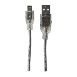 Cable USB A macho a Mini B5M Manhattan